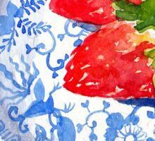 Three Strawberries - watercolour painting Sticker