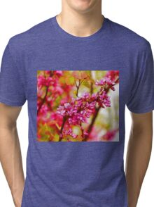 Abstract Pastel Flowers Drawing Take 3 Tri-blend T-Shirt