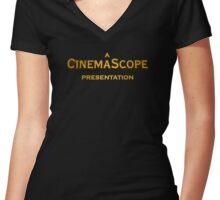 A CINEMASCOPE Presentation Women's Fitted V-Neck T-Shirt