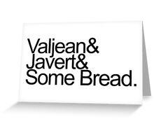Some Bread. Jetset, Black Greeting Card