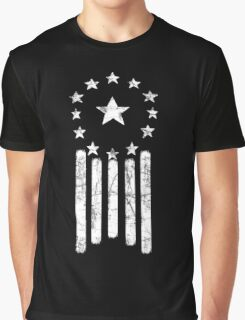 Old World American Flag [WHITE] Graphic T-Shirt