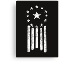 Old World American Flag [WHITE] Canvas Print