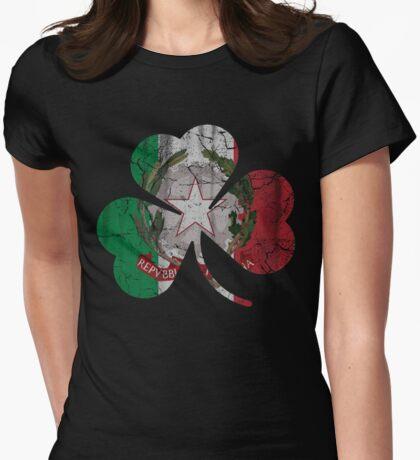 Irish Italian Heritage Shamrock Womens Fitted T-Shirt