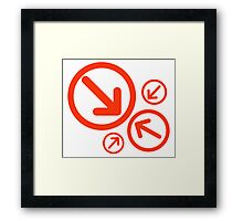 Arrows Red Framed Print
