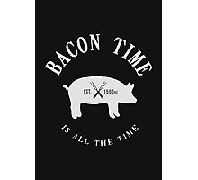 Bacon Time [White] Photographic Print