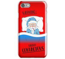 Santa Claus' Got The Sniffles iPhone Case/Skin