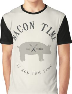 Bacon Time [Black] Graphic T-Shirt