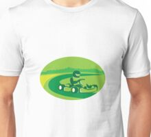 Go Kart Racing Oval Retro Unisex T-Shirt