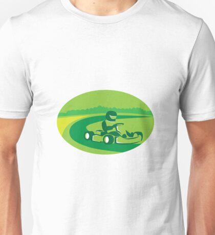Go Kart Racing Oval Retro Unisex T-Shirt