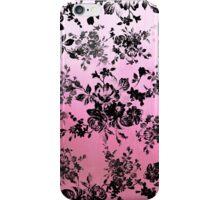 Chic vintage black floral pink watercolor pattern iPhone Case/Skin