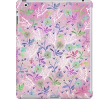 Hand painted pink white blue watercolor floral iPad Case/Skin