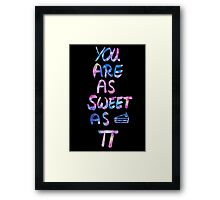 you are as sweet as pi [handlettering colorful ink] Framed Print