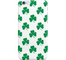 Cute Irish Shamrocks Pattern iPhone Case/Skin