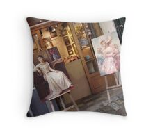 Welcome to Montmartre Throw Pillow