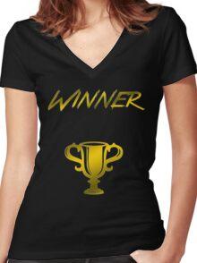 Winner's Trophy Women's Fitted V-Neck T-Shirt