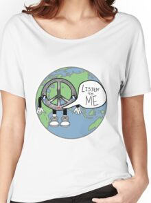Listen to Peace Women's Relaxed Fit T-Shirt