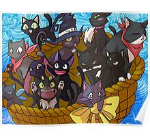 Anime Black Cats Poster