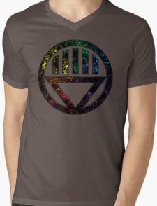 Lantern 8 - DC Spray Paint Mens V-Neck T-Shirt