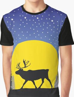 Caribou Moon Graphic T-Shirt