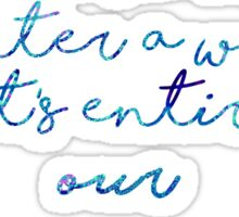 In dreams, we enter a world that's entirely our own. Sticker