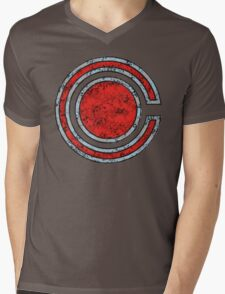 Cyborg - DC Spray Paint Mens V-Neck T-Shirt