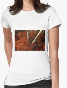 Birches and Red Bushes, OCT 25, 2013 Womens Fitted T-Shirt