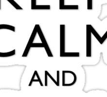 Agar.io KEEP CALM AND CARRY ON Sticker