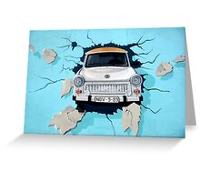 Graffiti Berlin Wall Greeting Card