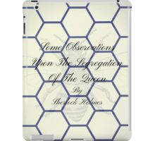 Second Book by Sherlock Holmes during retirement iPad Case/Skin