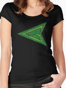 Green Arrow - DC Spray Paint Women's Fitted Scoop T-Shirt