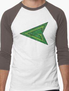 Green Arrow - DC Spray Paint Men's Baseball ¾ T-Shirt