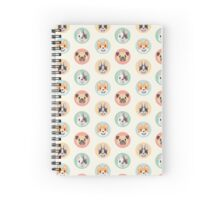 Circle Pups Pattern Spiral Notebook