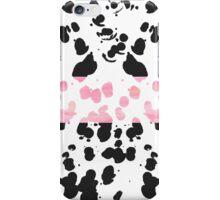Trendy Modern Watercolor & Black Paint Splatter iPhone Case/Skin