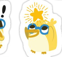 Cute Yellow Penguin Character Sticker