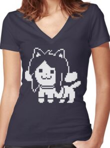 Temmie  Women's Fitted V-Neck T-Shirt