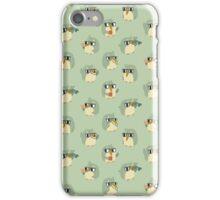 Cute Green Penguin Character iPhone Case/Skin