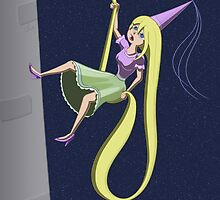 Rapunzel Abseil Escape Attempt by Thingsesque