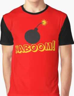 KABOOM cartoon explosion noise with bomb Graphic T-Shirt
