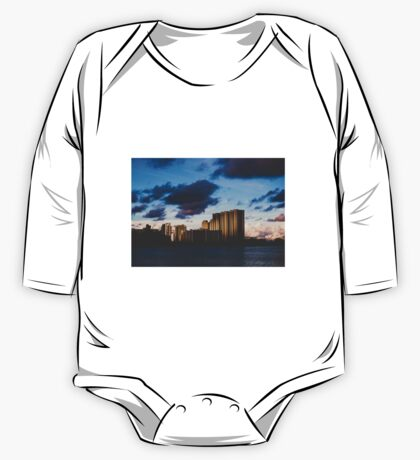 Sunset Over Buildings One Piece - Long Sleeve