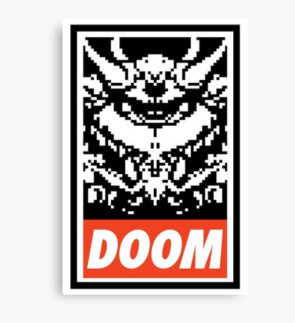 DOOM (OBEY Parody) - Full Color Canvas Print