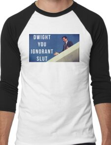 Dwight You Ignorant Slut Men's Baseball ¾ T-Shirt