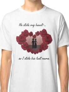 Valentines Rose Heart Classic T-Shirt