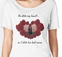 Valentines Rose Heart Women's Relaxed Fit T-Shirt