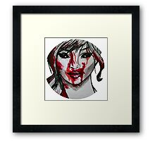 Blood Covered Demon Girl Framed Print