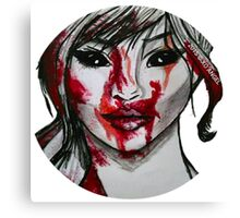 Blood Covered Demon Girl Canvas Print