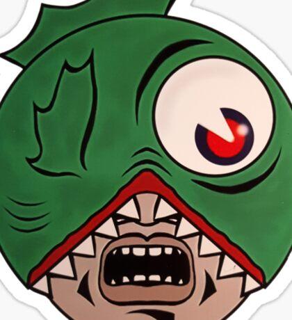 Fish Head Sticker