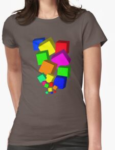 Blocks Womens Fitted T-Shirt