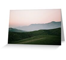 Tehachapi Sky and Hills Greeting Card