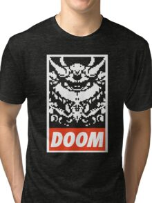 DOOM (OBEY Parody) - Black Shirt Version Tri-blend T-Shirt