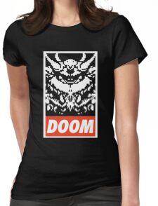 DOOM (OBEY Parody) - Black Shirt Version Womens Fitted T-Shirt